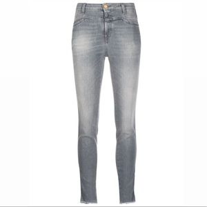 Closed High-waisted Skinny Jeans In Grey EUC